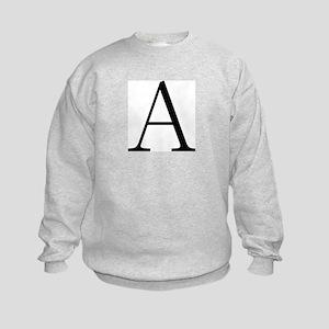 Greek Letter Alpha Kids Sweatshirt