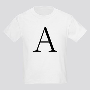 Greek Letter Alpha Kids T-Shirt