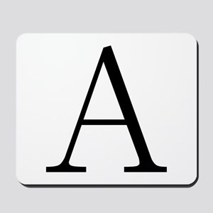 Greek Letter Alpha Mousepad