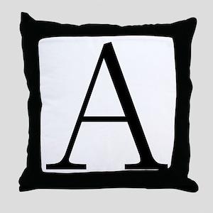 Greek Letter Alpha Throw Pillow