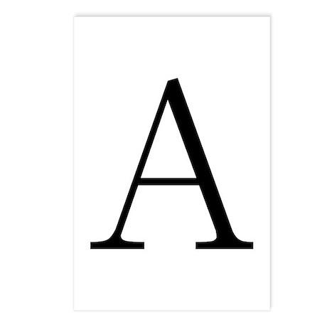 Greek Letter Alpha Postcards (Package of 8) by symbolsonstuff