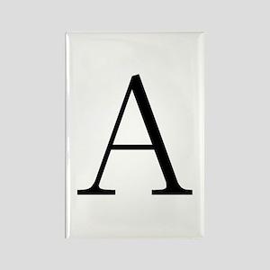 Greek Letter Alpha Rectangle Magnet