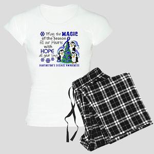 Holiday Penguins Huntingtons Women's Light Pajamas