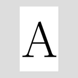 Greek Letter Alpha Rectangle Sticker