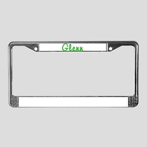 Glenn Glitter Gel License Plate Frame