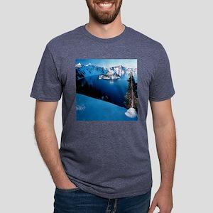 CrtrLake-Winter-Clocks Mens Tri-blend T-Shirt