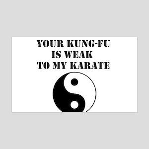 Kung-Fu Weak 35x21 Wall Decal