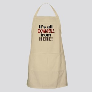 'Downhill From Here' Apron