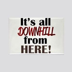 'Downhill From Here' Rectangle Magnet