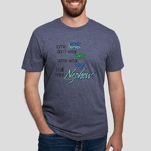 Superhero Nephew Mens Tri-blend T-Shirt