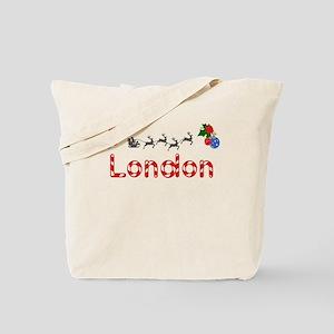 London, Christmas Tote Bag