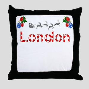 London, Christmas Throw Pillow
