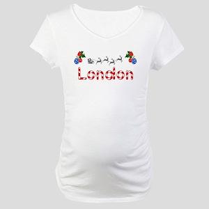 London, Christmas Maternity T-Shirt