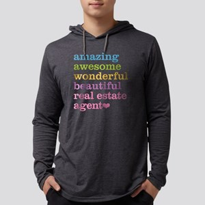Real Estate Agent Mens Hooded Shirt