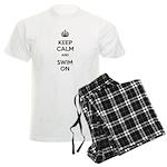 Keep Calm and Swim On Men's Light Pajamas