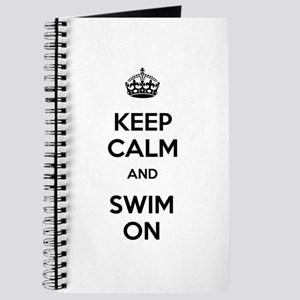 Keep Calm and Swim On Journal