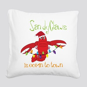 Comin' To Town Square Canvas Pillow