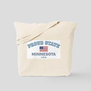 Minnesota-Proud State-Flag: Tote Bag