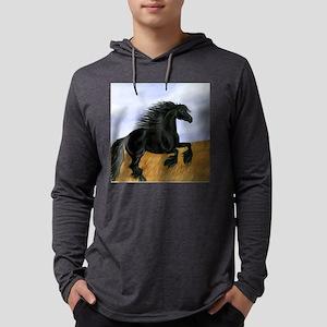 friesian clock Mens Hooded Shirt