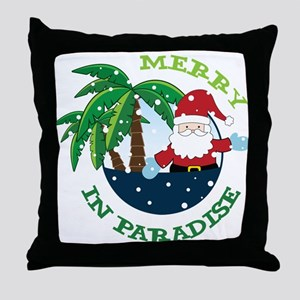 Merry In Paradise Throw Pillow
