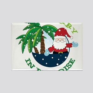 Merry In Paradise Rectangle Magnet