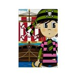 Bandana Pirate and Ship Rectangle Magnet (10 pack)