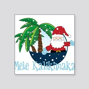 "Mele Kalikimaka Square Sticker 3"" x 3"""