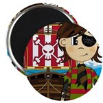 "Eyepatch Pirate and Ship 2.25"" Magnet (100 pa"