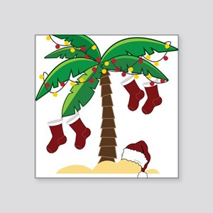 "Tropical Christmas Square Sticker 3"" x 3"""