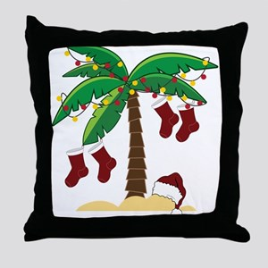 Tropical Christmas Throw Pillow