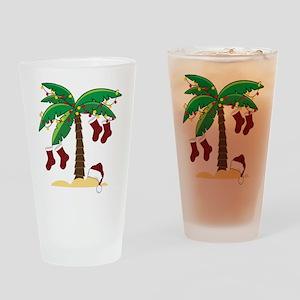 Tropical Christmas Drinking Glass