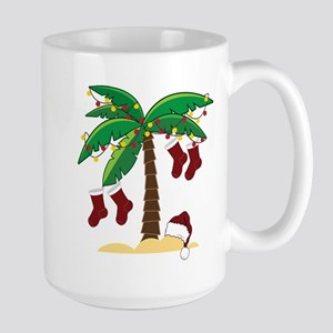 Tropical Christmas Large Mug