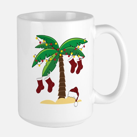 Tropical Christmas Large Mug