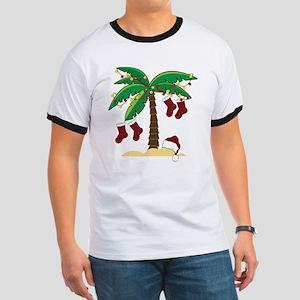 Tropical Christmas Ringer T