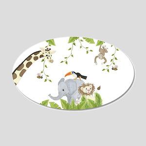 Jungle Animal 20x12 Oval Wall Decal