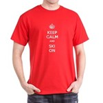 Keep Calm and Ski On Dark T-Shirt