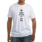 Keep Calm and Ski On Fitted T-Shirt