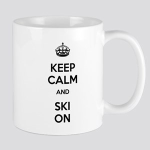 Keep Calm and Ski On Mug