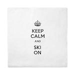 Keep Calm and Ski On Queen Duvet