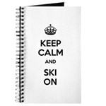 Keep Calm and Ski On Journal