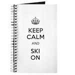 Keep Calm and Ski On Journal