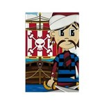 Turban Pirate and Ship Rectangle Magnet (100 pack)