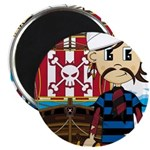 "Turban Pirate and Ship 2.25"" Magnet (10 pack)"
