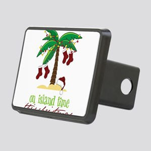 On Island Time Rectangular Hitch Cover