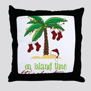 On Island Time Throw Pillow