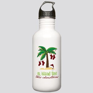 On Island Time Stainless Water Bottle 1.0L