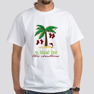 On Island Time White T-Shirt