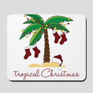 Tropical Christmas Mousepad