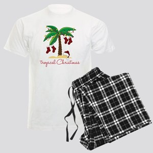Tropical Christmas Men's Light Pajamas