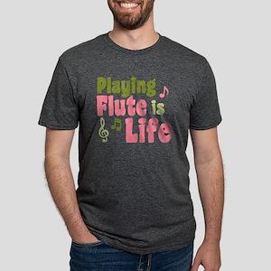 flute_is_life_shirt Mens Tri-blend T-Shirt